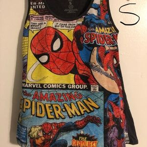 Spider-Man tank top.